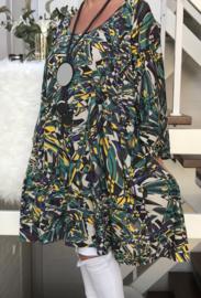 Yvonne oversized A-lijn jersey tuniek/jurk met zakken apart (extra groot)