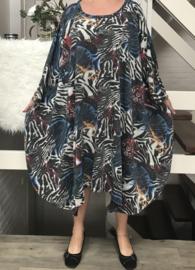 Gina oversized A-lijn jersey jurk apart (extra groot)