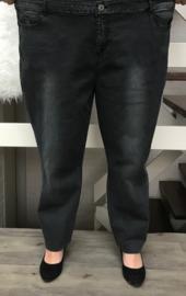 ITALIA  stretch jeansbroek grijs (extra groot)