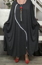 Melanie oversized A-lijn  jurk/wrap apart (extra groot)