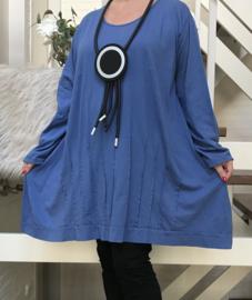 Moonshine jersey katoen  A-lijn tuniek apart/in meerdere kleuren