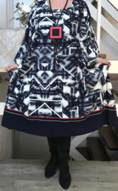 Virginia oversized A-lijn jersey jurk met zakken apart (extra groot)