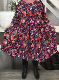 Clarice oversized A-lijn jersey jurk apart (extra groot)