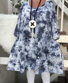 Judith oversized A-lijn jersey tuniek/jurk met zakken apart (extra groot)
