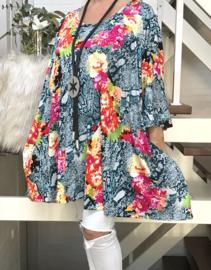 Iris oversized A-lijn jersey tuniek/jurk met zakken apart (extra groot)