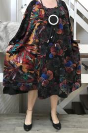 Taylor oversized asymmetrisch viscose jersey A-lijn jurk met zakken apart (extra groot)stretch