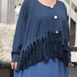 Moonshine oversized tricot vest  (extra groot)/in meerdere kleuren