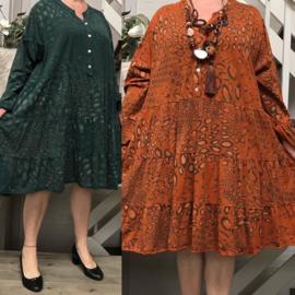 Moonshine jersey katoen A-lijn jurk/tuniek  apart/in meerdere kleuren