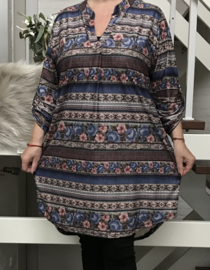 ITALIA  tricot oversized  tuniek/blouse stretch