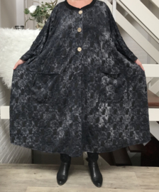 Stella oversized A-lijn jersey blazer/jas  (extra groot)  apart