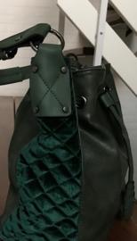 POTRI fashion XL schoudertas donkergroen