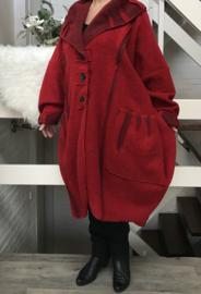 ITALIA oversized mantel/jas ( extra groot en lang) wol stretch/ in meerdere kleuren