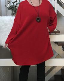 ITALIA  oversized jersey tuniek met ketting /in meerdere kleuren