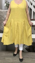 Moonshine oversized linnen  A-lijn jurk apart/in meerdere kleuren
