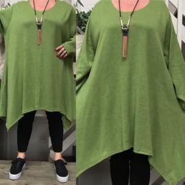 La Bass viscose A-lijn asymmetrisch tuniek/jurk stretch