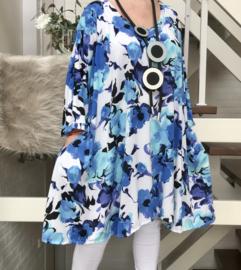 Patti oversized A-lijn tuniek/jurk met zakken apart (extra groot) stretch