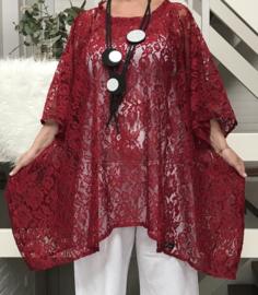 Rachel  oversized A-lijn kanten  jurk/tuniek apart (extra groot)