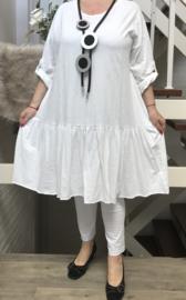 ITALIA MODE katoen tricot  A-lijn jurk stretch