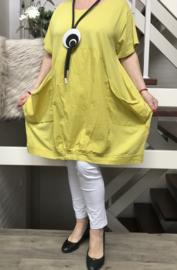ITALIA MODE katoen jersey   A-lijn jurk stretch