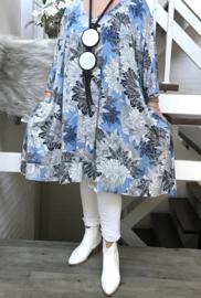 Marisa  oversized jersey A-lijn jurk/tuniek met zakken apart stretch  (extra groot)