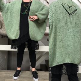 Lens`s Couture  oversized super zachte  gebreide vest met hart / in meerdere kleuren