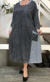 Zedd Plus lange A-lijn jeans jurk