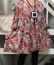 Helen oversized A-lijn jersey tuniek/jurk met zakken apart (extra groot)