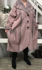 La Bass oversized mantel/jas ( extra groot en lang) wol stretch /in meerdere kleuren