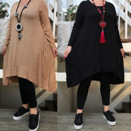 ITALIA oversized A-lijn gebreide jurk/in meerdere kleuren