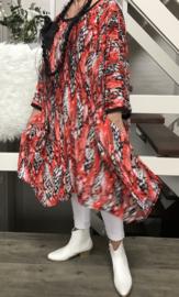 Carrie oversized A-lijn jersey jurk met zakken apart (extra groot)