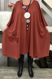 Madeleine oversized A-lijn jersey jurk apart (extra groot)
