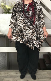 AKH Fashion viscose oversized asymmetrisch tuniek  (extra groot)