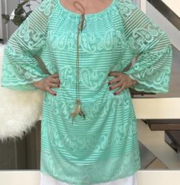 ITALIA viscose tuniek/jurk gevoerd /in meerdere kleuren
