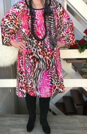 Doreen oversized A-lijn jersey  jurk apart (extra groot)