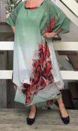 NEW NEW oversized jurk/wrap met verstelbare plooien apart (extra groot en extra lang )