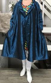 Elena oversized A-lijn Taft blazer/vest met zakken  (extra groot)  apart