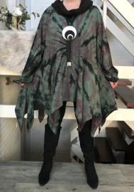 La Bass katoen de modieuze kleuring tuniek/jurk met sjaal