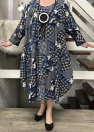 Cadence oversized viscose jersey A-lijn jurk met zakken apart(extra groot)stretch