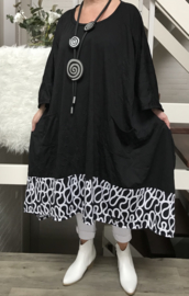 Nita oversized A-lijn jersey jurk/tuniek apart (extra groot)