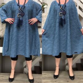 Molly2  oversized viscose jersey A-lijn tuniek/jurk met zakken apart(extra groot)stretch