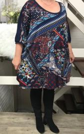 Suzenne oversized A-lijn jersey jurk/tuniek apart (extra groot)