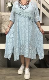 ITALIA MODA katoen  A-lijn KANTEN jurk+ top stretch/in meerdere kleuren