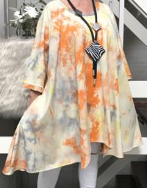 Gabi oversized A-lijn jersey tuniek/jurk met zakken apart (extra groot)