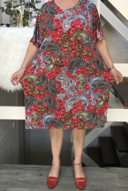 ITALIA viscose jersey jurk (extra groot)