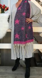 Italia super zacht winter viscose/wol dubbelzijdig sjaal