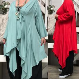Moonshine oversized jersey  katoen vest stretch /in meerdere kleuren