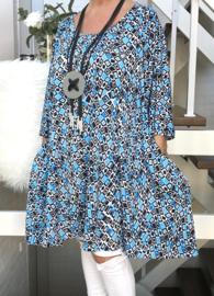 Luise oversized A-lijn jersey tuniek/jurk met zakken apart (extra groot)