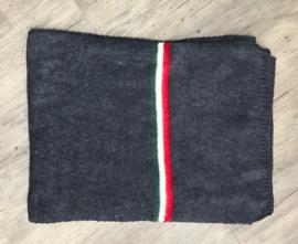 Italia gebreide sjaal blauw