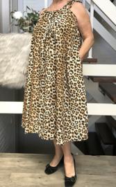 Anita oversized A-lijn zomer silky satin jurk met zakken  (extra groot)
