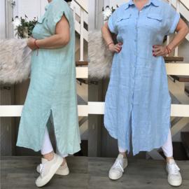 Moonshine linnen jurk/hemd apart/in meerdere kleuren